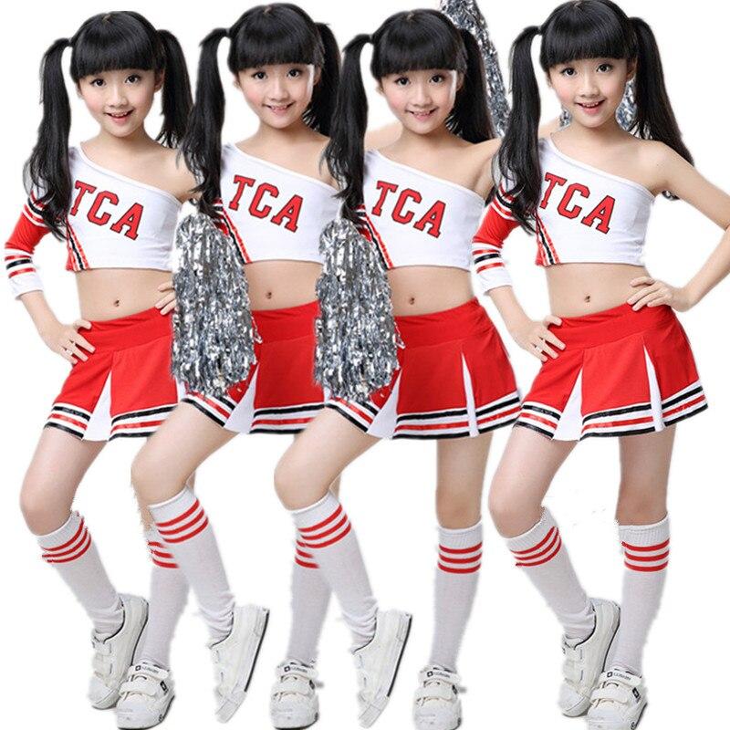 Girl Children Academic Dress School Uniforms Set Kid Girls Gymnastics Costumes Boy Competition Suit Girl Cheering Squad Suits