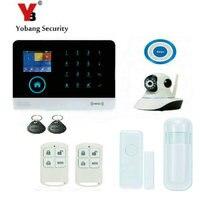 YoBang безопасности Touch клавиатуры 3 г RFID домашний офис сигнализация App дистанционного управления видео IP камеры Беспроводные оповещения PIR дви