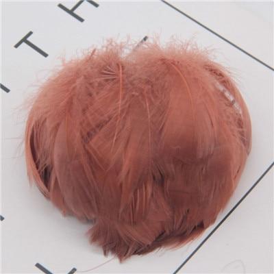Натуральные перья лебедя 4-7 см 1-2 дюйма маленькие плавающие Шлейфы гусиное перо цветной шлейф для украшения рукоделия 100 шт - Цвет: dark coffee 100pcs
