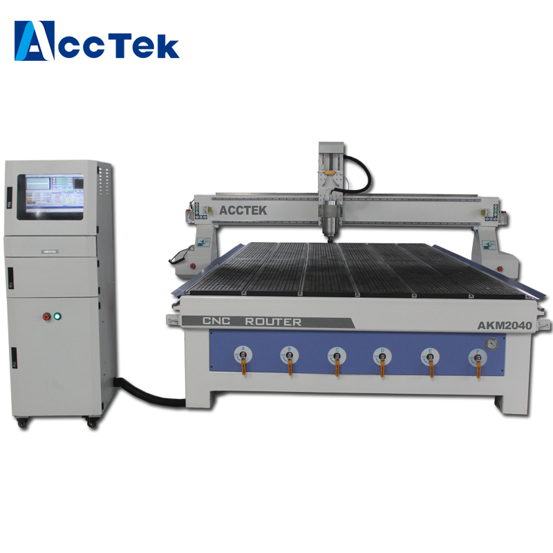 Made in China cnc router <font><b>2040</b></font> vacuum pump with vacuum <font><b>T</b></font>-<font><b>slot</b></font> working table image