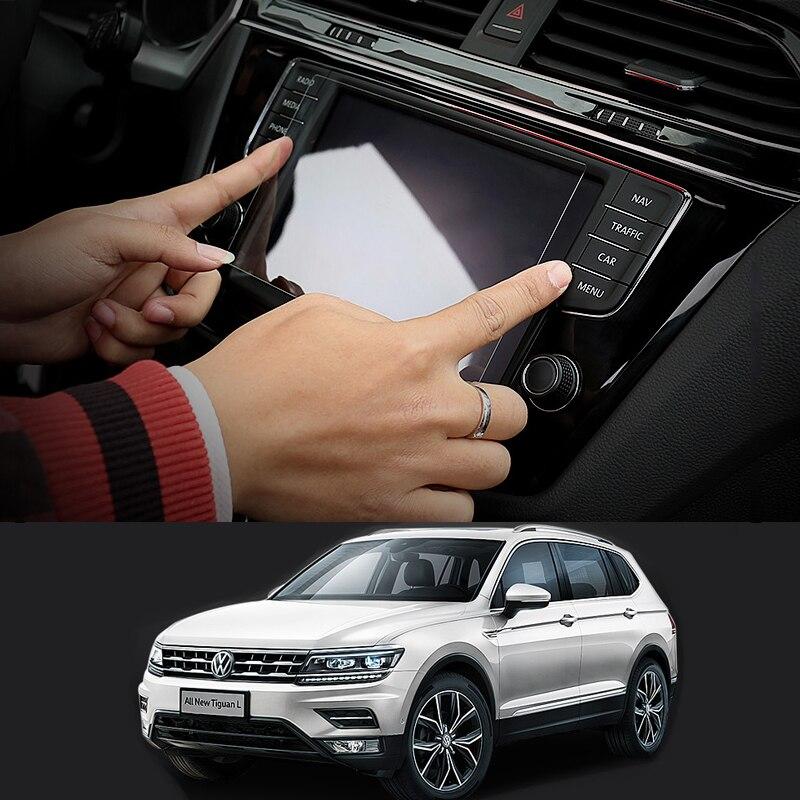 Navegación GPS pantalla acero de la película protectora para Volkswagen VW Tiguan MK2 2017 2018 2016 Control de la pantalla LCD etiqueta
