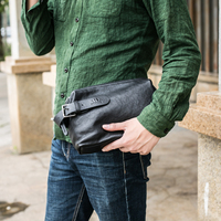 BAQI Brand Men Wallets Clutch Genuine Leather Men Handbags Soft Sheepskin 2018 Fashion Men Casual Bag Designer Ipad Phone Bag
