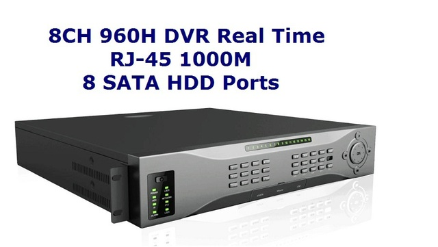 Professional 8CH 960H Real Time DVR With HDMI Spot, Mac Systme Compatible IPHONE IPAD View 8 SATA HDD Model 8608HX3 Support 3G