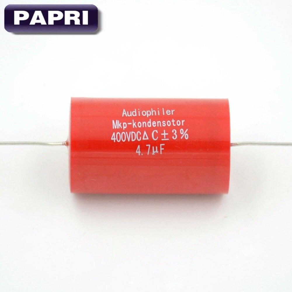 PAPRI 10PCS פוליפרופילן Axial MKP 4.7UF 400VDC אודיו - דף הבית אודיו ווידאו