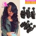 Grade 8A Brazilian Loose Wave Virgin Hair Fashow Hair Products Queen Weave Beauty Brazilian Hair Bundles 100% Human Hair Weave