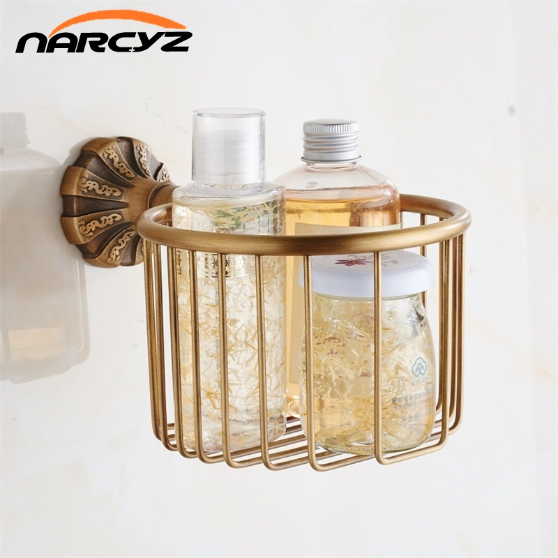 New Euro Style Wholesale And Retail Bronze Bath Brass Toilet Paper Holder Roll holder Antique Finish Shower Storage 9080K