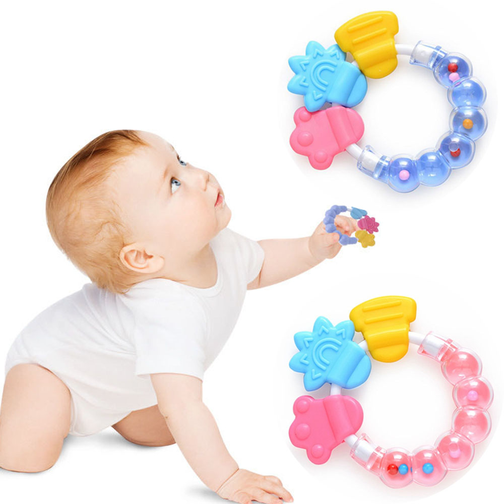 Cartoon Infant Toy 1 PC Cartoon Baby Rattle Teether Toys For Baby 0-12 Month Newborn Development  Educational