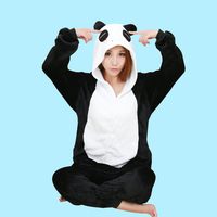Cartoon New Flannel Pajamas Panda Pajama Cartoon Animal Adult Panda Costume Sleepwear Cute Pajama Panda Onesie
