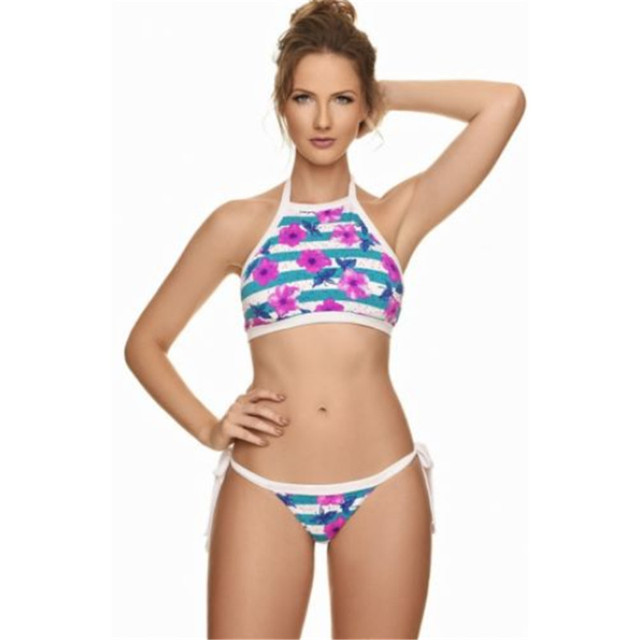 5ef7b73d70 Mother Daughter Son Matching Swim Beachwear Swimsuit Bikini Push-Up Bra New Set  Women s Swimwear Triangle
