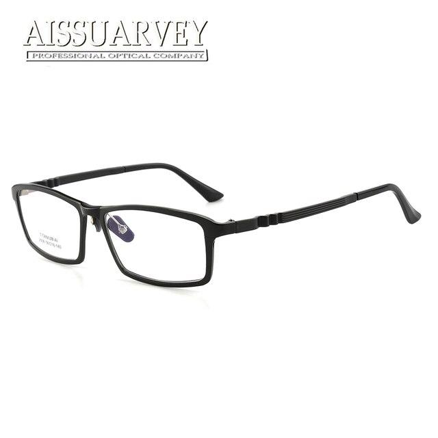 aa7bbb83d1 Hombres, gafas marcos ópticos de borde completo anteojos recetados moda  guapo Simple estudiantes de titanio