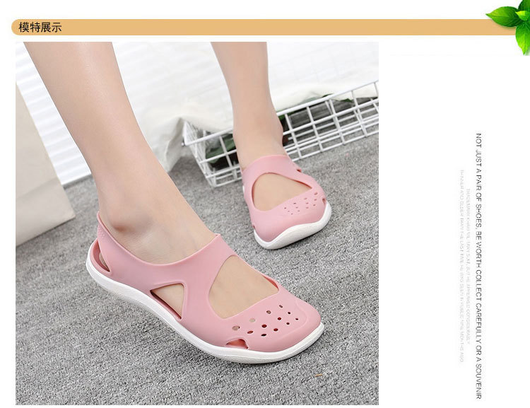 HTB1BIJ4bzDuK1RjSszdq6xGLpXas - Women's Sandals Fashion Lady Girl Sandals Summer Women Casual Jelly Shoes Sandals Hollow Out Mesh Flats Beach Sandals