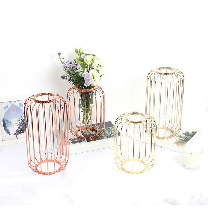 Vase en verre de table moderne cadeau Vase nordique décoration maison à la main en verre Vase de table décoration de la maison
