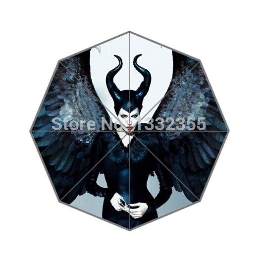 Fashion Design Umbrella Custom Maleficent Angelina Jolie Folding Umbrella For Man And Women Free Shipping UPC-035