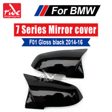 High-quality M-Style ABS Gloss Black Rear View Mirror Covers Cap Decoration For BMW 7-Series F01 F02 F03 740i 750i 760 2014-2016