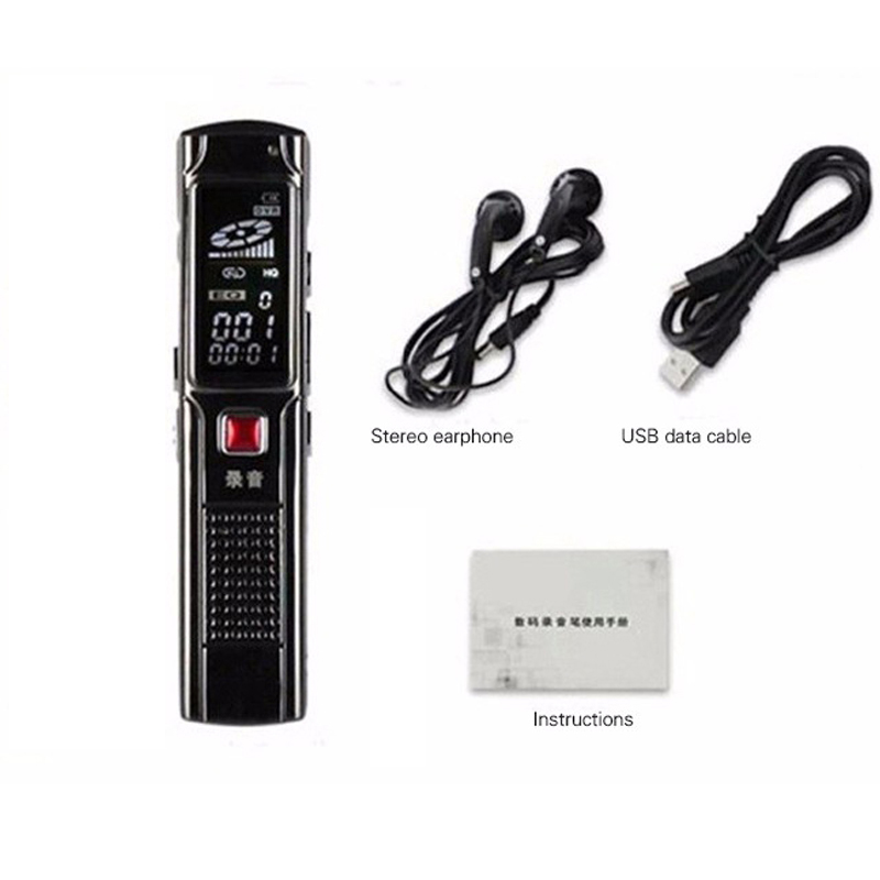 High Quality 8GB Digital Steel Stereo Voice Recorder High Smartphone Sound Recording Mini Digital Audio Recorder MP3 Player