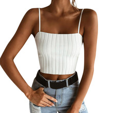 Women Lady Female  Slim Tops Sleeveless T-Shirt Tank Tops Summer Beach Vest Bare Midriff Summer Fashion Clothes sexy midriff baring tops