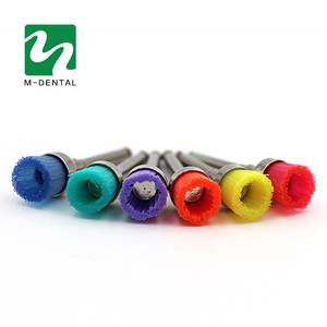 Image 3 - 50 pcs Colorful Dental Polishing Brush Polisher Prophy Rubber Cup Latch Nylon For Dentistry Lab