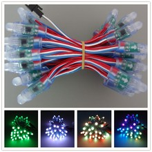 12V 13.5/18.5mm pigtail connector,18awg wire,12mmWS2811 RGB led pixel module,led smart node,IP68 rated,Round