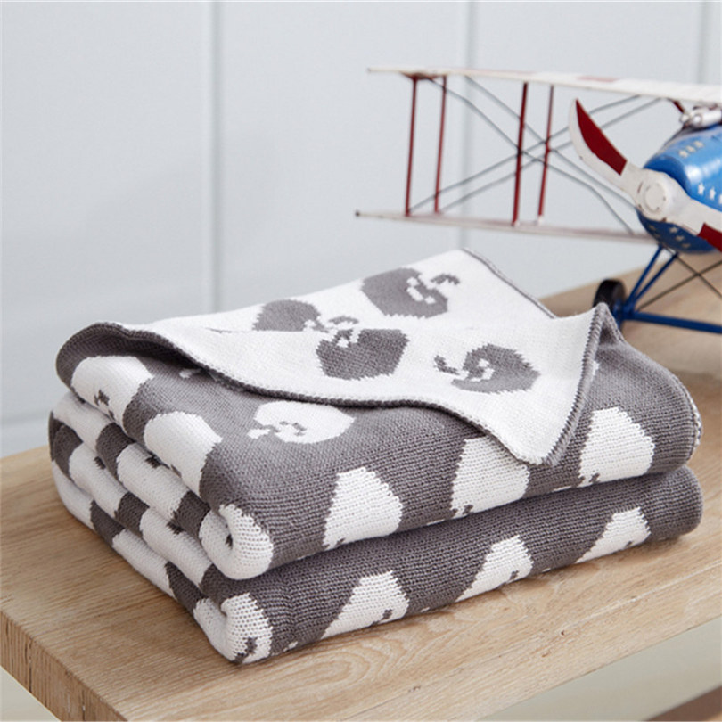 Knitted Blankets Cartoon Printed Plaids On The Sofa Cover Travel Comforter Throw For Children Blanket For The Bed Cover Couch