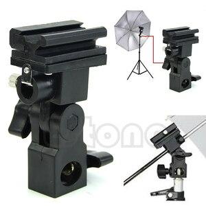 Image 1 - Photo Flash Adapter Hot Shoe Swivel Mount Light Stand Bracket B Paraplu Houder 10166