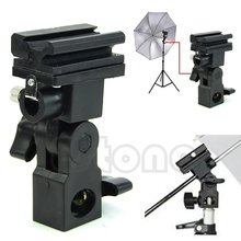 Photo Flash Adapter Hot Shoe Swivel Mount Light Stand Bracket B Umbrella Holder 10166