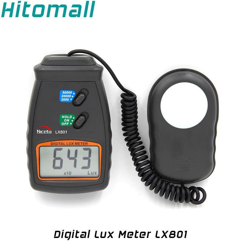 Portable 50,000  Photography Tool Digital Light Meter Lux Meter Meters Luminometer Photometer LX801