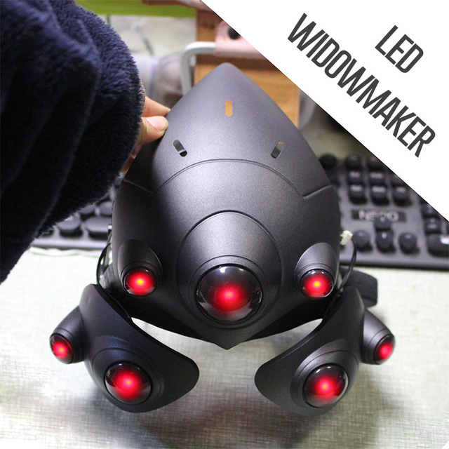 With Breathing LED!!! Two Mode!!! Widowmaker Helmet For Cosplay Widowmaker Mask With Lens France Player Headset Costume Props