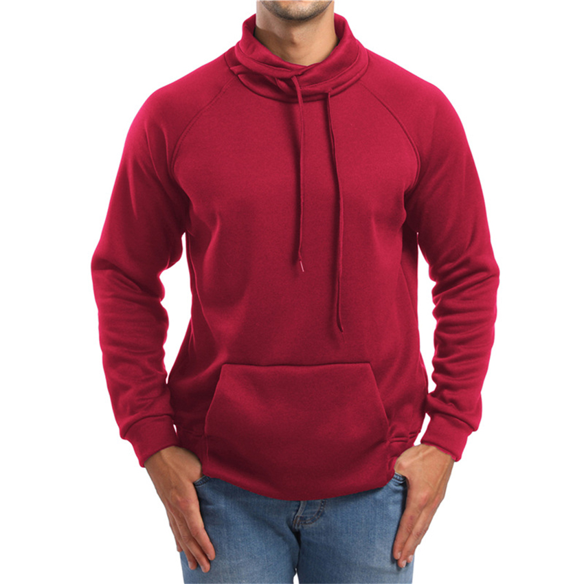 Men's Hoodies Spring Autumn Long Sleeve Casual Hooded Coat Mens Brand Clothing Male Sweatshirt Casual Solid Turtleneck Clothes