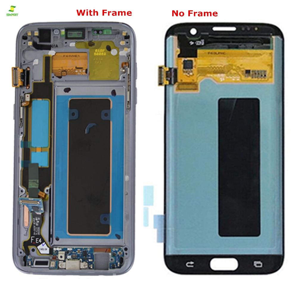 Borda Lcd 5.5 ''Para SAMSUNG Galaxy S7 S7 G935 G935F borda LCD Screen Display Lcd de Toque Digitador Assembléia LCDs peças de reposição