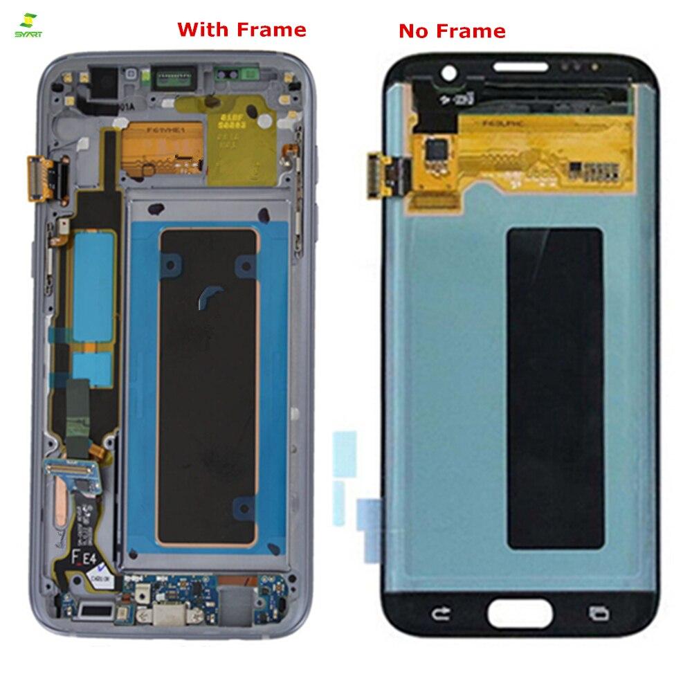 S7 Edge 5,5 ''ЖК-дисплей для SAMSUNG Galaxy S7 край ЖК-дисплей Экран дисплея G935 G935F преобразователь изображений для сенсорного дигитайзера сборка ЖК-мони...