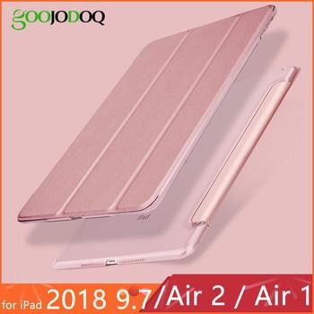 Para iPad 2018 Funda 9,7 Air 2 Funda Ultra delgada de cuero PU PC duro soporte trasero Funda para iPad 6ª generación iPad Air 2 Air 1 Funda