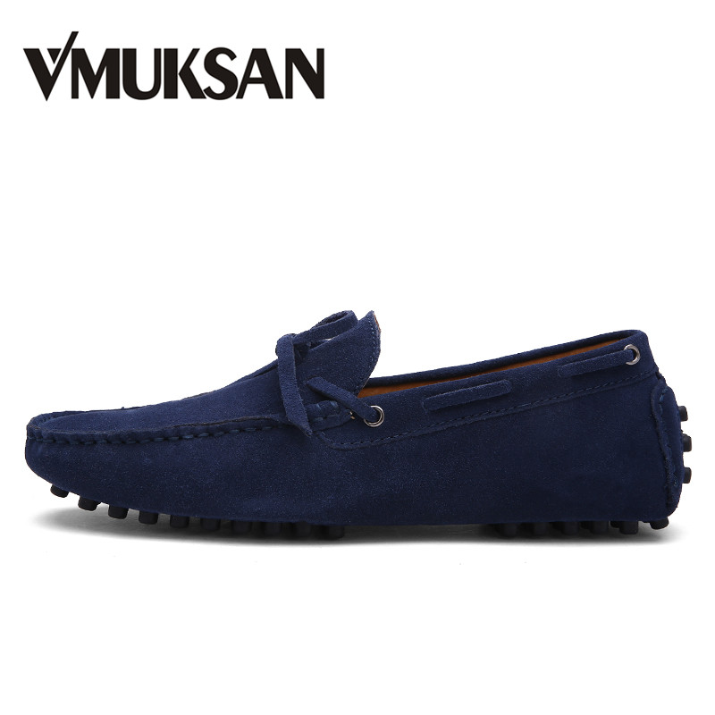 VMUKSAN High Quality Suede Leather Mens Loafers Fashion Design Large Size 38-49 Men Shoes 2019 New Spring Casual Shoes Man