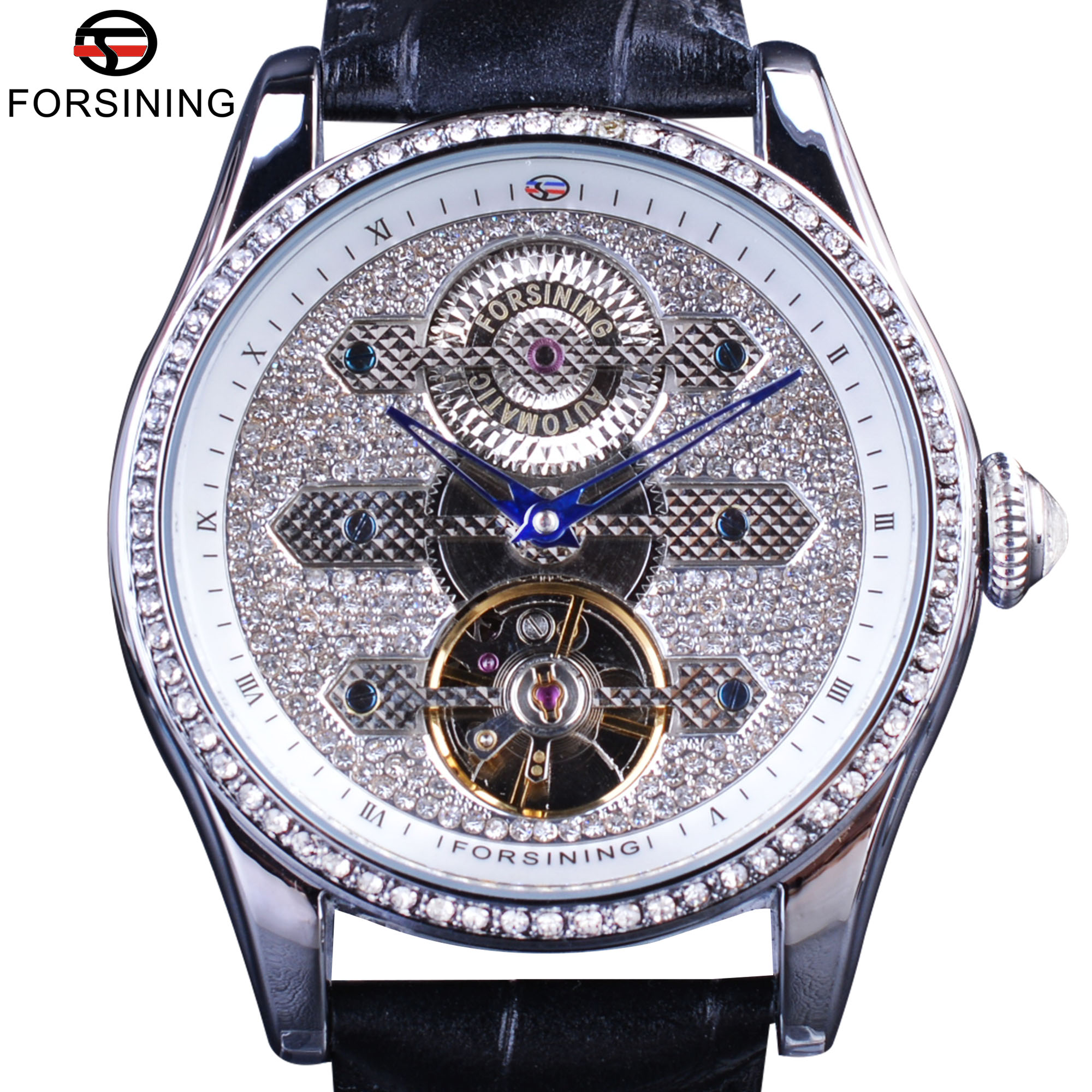 in item silver gear watch steampunk waterproof forsining mens watches automatic mechanical brand luxury wrist from top skeleton steel design