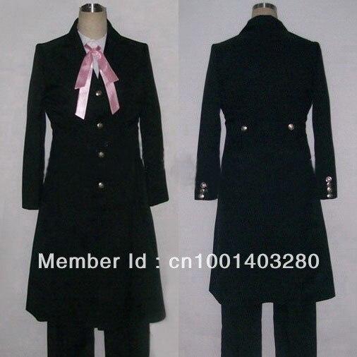 Black Butler Kuroshitsuji Grell Sutcliff cosplay costume free shipping