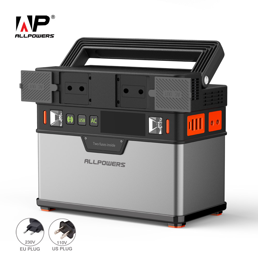 ALLPOWERS 110V~230V Power Bank Pure Sine Wave Portable Generator Power Station Powering Car Refrigerator TV Drone Laptop Phones.