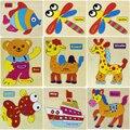 kaiyunniu 15cmX12.5cm Wooden Blocks Animals Kid Children Educational Toy ,AGU 03