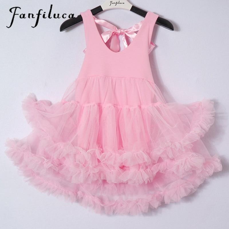 Fanfiluca Baby Girl Dress Ball Gown Cotton Soft Lace Newborn Tutu Dress Body Suit Baby Clothes Princess Dresses