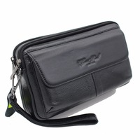 Men Genuine Leather Clutch Wrist Bag Made Of Natural Cowhide Hand Bags Purse Mobile Phone Cigarette