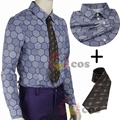 Batman cosplay Joker Cosplay costume The Dark Knight Joker cosplay shirt + Tie custom made
