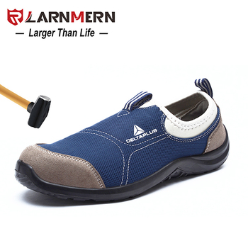 LARNMERN Men's Steel Toe Safety Work Shoes Lightweight Breathable Anti-Smashing Anti-puncture Construction Casual Sneaker