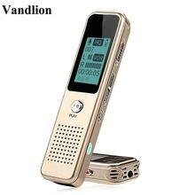 Profissional digital mini gravador de voz áudio voz ativada ditafone gravação escondida grabadora de voz mp3 player v19