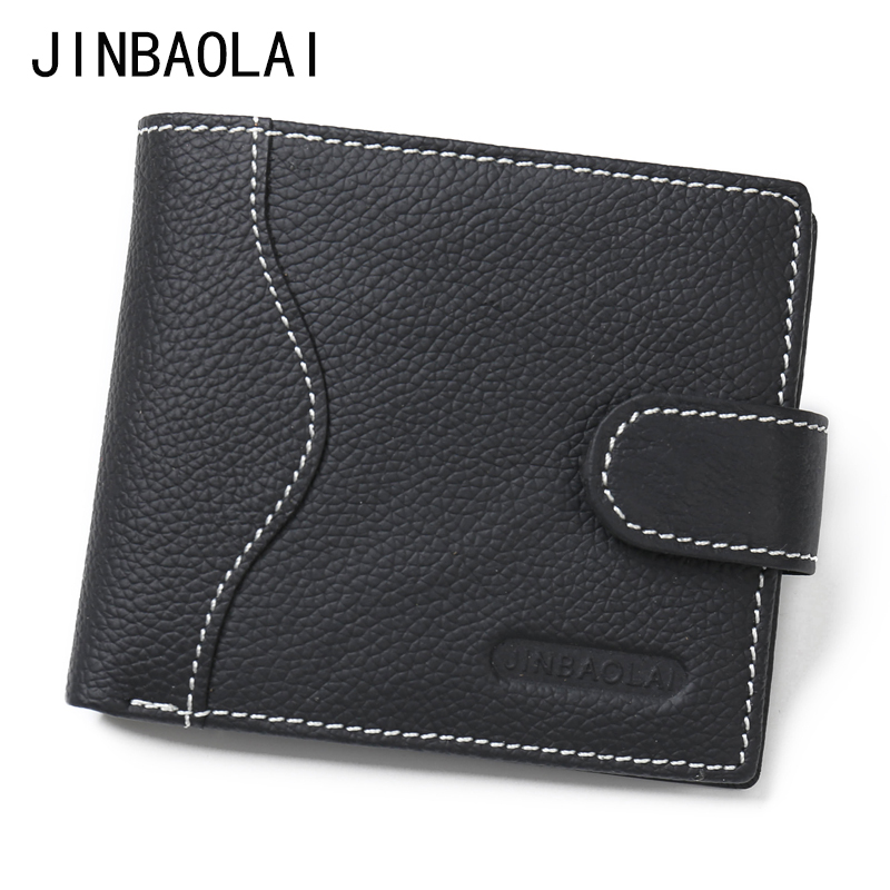 JINBAOLAI 2017 New Design Men Wallets Fashion Leather Bifold Wallet ID Card Holder Coin Purse Brand Design Money Billfold Clutch vintage bifold wallet men handbags purse coin money bag male leather credit id card holder billfold purse mini wallet hot sale