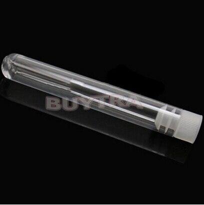 10 Pz/set Provetta di Plastica Con La spina 12x75mm Trasparente Come il Vetro Favore di Cerimonia Nuziale Tubi Del Partito di Favore