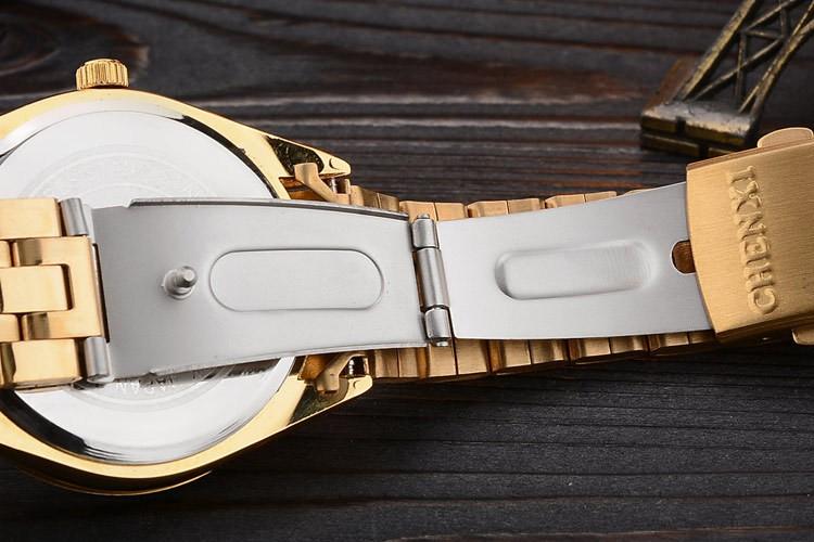 Chenxi złoty zegarek męskie zegarki top marka luksusowe znani zegarek męskie złoty zegarek kwarcowy kalendarz zegar relogio masculino 13