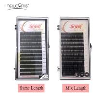 NEWCOME False Mink Eyelash Extension Mix & Individual 8-15mm Classic Eye Lashes Natural Korea Silk Lash Cilia