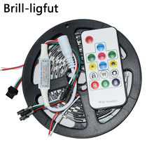 WS2812B WS2812 RGB Led Strip 5m DC5V 30/60leds/m 2812 IC Built-in individually addressable SMD5050 RGB full color led tape lamp(China)