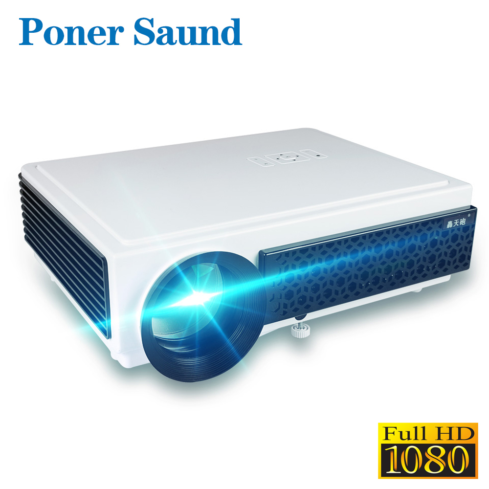 Poner Saund 96 Mais LED Projetor Full HD 1080P Projetor Android Wi-fi 3D Inteligente de Vídeo para Home Theater Grátis presentes Projetor Hdmi