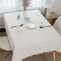 Turetrip White Tablecloth Cotton Fabric Cloth For Coffee Table Party Table Cloth Holder Manteles Para Mesa Cotton Linen Cloth