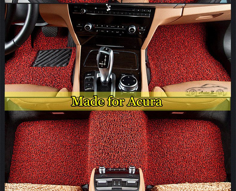 Pvc Coil Car Floor Mats For Acura Ilx Tl Zdx Rdx Tsx Rl