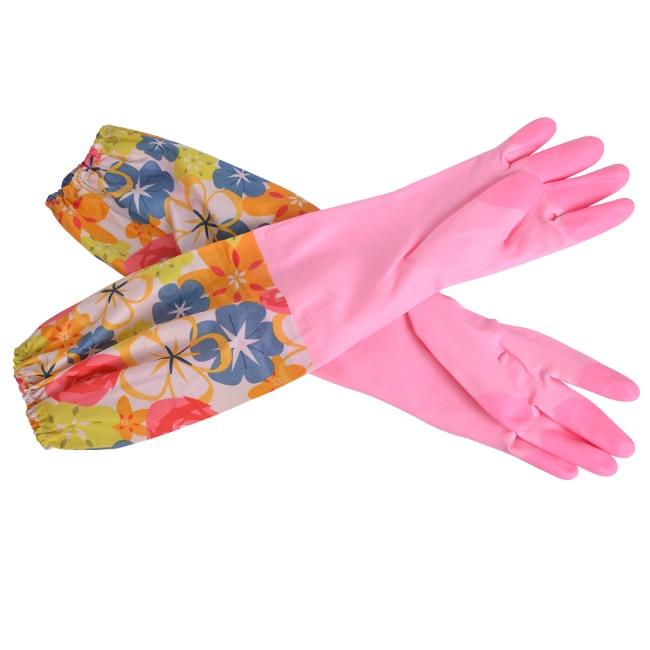 Doprava zdarma zimní termo ochranné rukavice 50CM prodlužují PVC latexové ochranné rukavice se zahuštěným sametovým lemováním a bavlnou